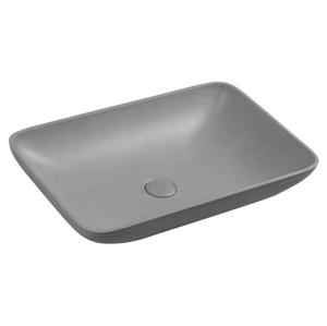 SAPHO INFRANE betonové umyvadlo včetně výpusti, 57x37 cm, šedá žíhaná AR461