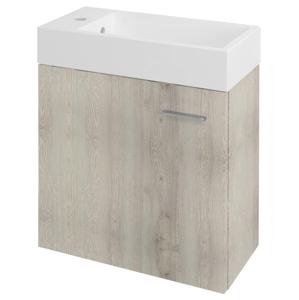 SAPHO LATUS IV umyvadlová skříňka 49,5x50x25cm, dub Mocca 55598