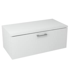 SAPHO MAKALA skříňka s vrchní deskou 89,5x35x45,2 cm, bílá ML095