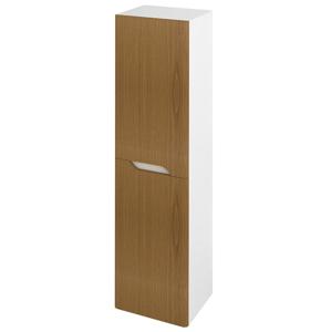SAPHO MEDIENA skříňka vysoká 35x140x30cm, 2x dvířka, levá/pravá, bílá mat/dub natural MD352