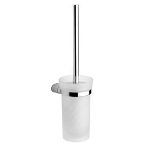 SAPHO MIDA WC štětka závěsná, chrom/sklo satin MA008
