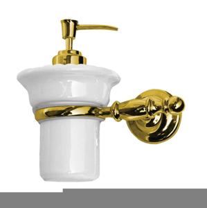 SAPHO PERLA dávkovač mýdla, keramika, zlato PE1085