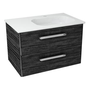 SAPHO PURA umyvadlová skříňka 77x50,5x48,5cm, pravá, graphite line PR089
