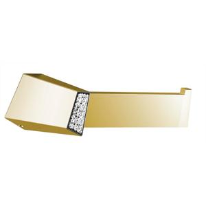SAPHO SOUL CRYSTAL držák toaletního papíru bez krytu, zlato 165056