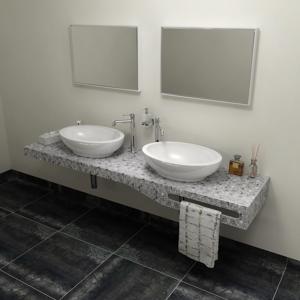 SAPHO TAILOR+ rockstone deska 210x50 cm, límec C, držák ručníku vpravo TRP210C