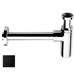 SAPHO Umyvadlový sifon 1'1/4, odpad 32 mm, kulatý, černá mat SI515