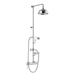 SAPHO VIENNA sprch. sloup s pákovou baterií, mýdlenka, v. 1267mm, chrom (LO41RM2251) VO139