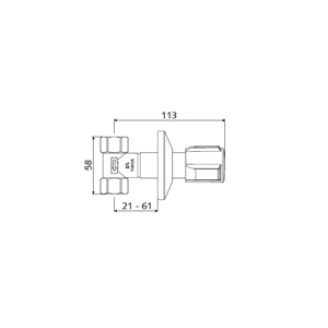 """Schell podomítkový ventil 1/2"""" chrom Comfort, tělo mosazné S191140699"""