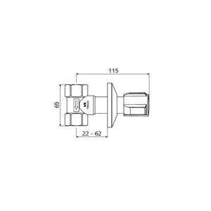 """Schell podomítkový ventil 3/4"""" chrom Comfort, tělo mosazné S191150699"""