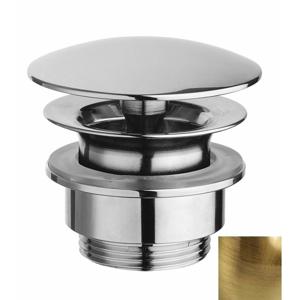 """SILFRA Umyvadlová výpust 5/4"""", neuzavíratelná, velká krytka, tl.5-55mm, bronz UD52592"""