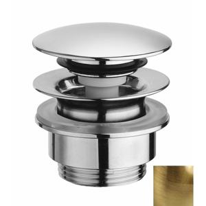"""SILFRA Umyvadlová výpust 5/4"""", tichý click-clack, velká zátka, tl.5-55mm, bronz UD425S92"""