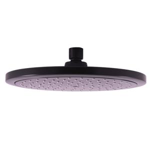 SLEZAK-RAV Hlavová sprcha kulatá chromová ø 23 cm, Barva: černá matná PS0043CMAT