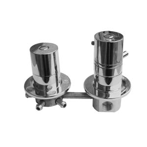 SLEZAK-RAV Vodovodní baterie do boxů s třícestným ventilem termostatická, Barva: сhrom X382T