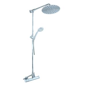 SLEZAK-RAV Vodovodní baterie sprchová TERMOSTATICKÁ s hlavovou a ruční sprchou, Barva: chrom, Rozměr: 150 mm TRM81.5/4-01