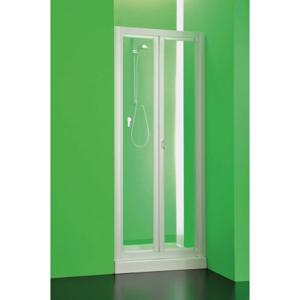 Sprchová zástěna DOMINO 76 81 cm, 185 cm, Univerzální, Plast bílý, Čiré bezpečnostní sklo 3 mm BSDOM83S
