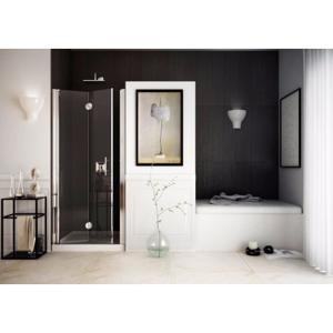 Sprchové dveře SPACEDUE 66 69 cm, 190 cm, Levé (SX), Leštěný hliník, Čiré bezpečnostní sklo 6 mm BQSP512SXC