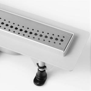 Sprchový plastový žlab BASIC2 vč. nerezového roštu, 390mm (HLZP0392) LV-HLZP0392