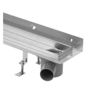 Sprchový žlab Klasik nerez 700mm ke zdi, sifon vpravo (HLZNK071) LV-HLZNK071
