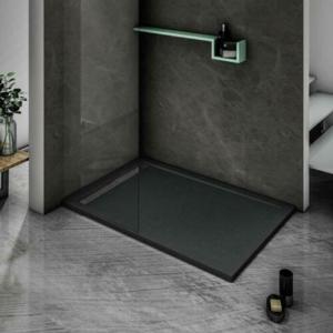 STACATO ETERMY BLACK sprchová vanička z litého mramoru, čtverec černá čtverec: 1000x1000 ETB110