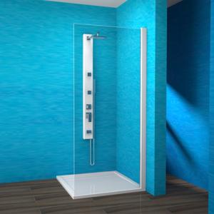 TEIKO sprchová stěna pevná EBS 90 SKLO PRAVÁ BÍLÝ 90x190 V336090R55T80001