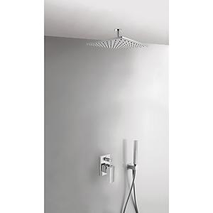 TRES Podomítkový jednopákový sprchový set CUADRO s uzávěrem a regulací průtoku. · Včetně podomí 00618080