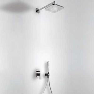 TRES Podomítkový jednopákový sprchový set s uzávěrem a regulací průtoku. · Včetně podomítkového 20018002NE