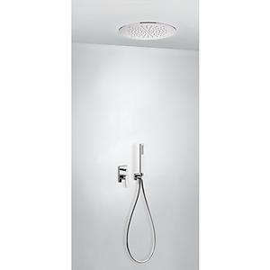 TRES Podomítkový jednopákový sprchový set s uzávěrem a regulací průtoku. · Včetně podomítkového 21198099