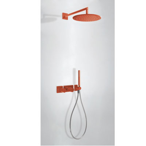 TRES Podomítkový termostatický sprchový set BLOCK SYSTEM s uzávěrem a regulací průtoku (2-cestn 20735201TRO
