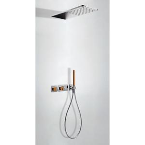 TRES Podomítkový termostatický sprchový set BLOCK SYSTEM s uzávěrem a regulací průtoku (2-cestn 20735202NA