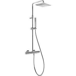 TRES Souprava termostatické sprchové baterie · Pevná sprcha 250x250 mm. s kloubem. (1.34.138.26 20538501