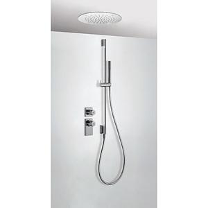 TRES Termostatický podomítkový sprchový set BLOCK SYSTEM s uzávěrem a regulací průtoku (2-cestn 20635203