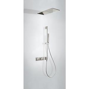 TRES Termostatický podomítkový sprchový set BLOCK SYSTEM s uzávěrem a regulací průtoku (2-cestn 20725210AC