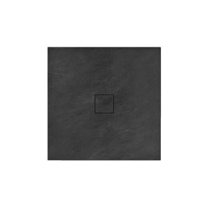 REA Sprchová vanička minerální kámen moru Stone 90x90x4 černá REA-K9601