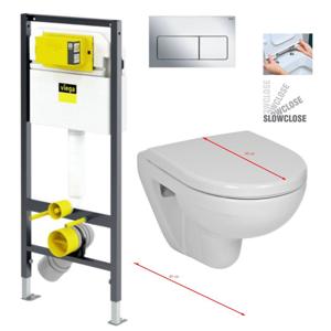 VIEGA Presvista modul DRY pro WC včetně tlačítka Life5 CHROM + WC JIKA LYRA PLUS 49 + SEDÁTKO DURAPLAST SLOWCLOSE V771973 LIFE5CR LY4