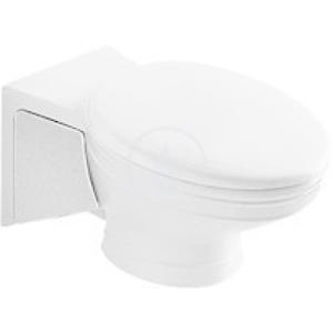 VILLEROY & BOCH Amadea WC sedátko s poklopem, bílé sedátko, závěsy z ušlechtilé oceli 881061R1