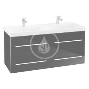VILLEROY & BOCH Avento Umyvadlová skříňka, 1180x514x452 mm, 4 zásuvky, Crystal Black A89300B3
