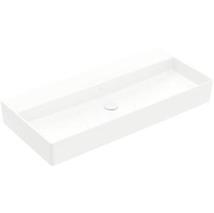 VILLEROY & BOCH Memento 2.0 Umyvadlo nábytkové 1000x470 mm, bez přepadu, bez otvoru pro baterii, CeramicPlus, alpská bílá 4A221FR1