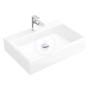 VILLEROY & BOCH Memento Umyvadlo na desku, 500 mm x 420 mm, bílé bezotvorové umyvadlo, s přepadem, s Ceramicplus 513552R1