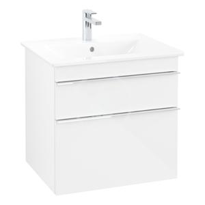 VILLEROY & BOCH Venticello Umyvadlová skříňka, 603x590x502 mm, 2 zásuvky, Glosy White A92401DH