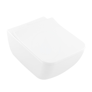 VILLEROY & BOCH Venticello Závěsné WC se sedátkem SoftClosing, DirectFlush, CeramicPlus, alpská bílá 4611RSR1